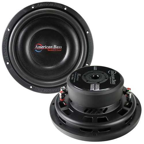 """American Bass 10"""" Shallow Woofer 600 Watts Dual 4 Ohm Voice Coil"""
