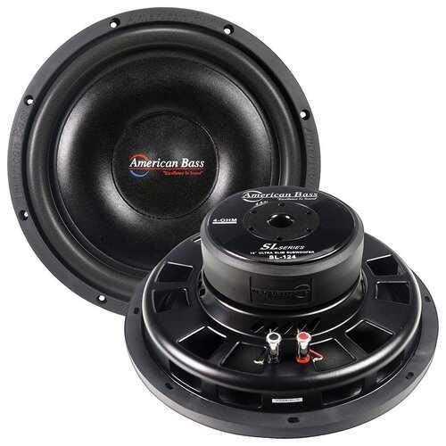 "American Bass 12"" Slim Mount Wooofer 500 watts max 4 Ohm SVC"