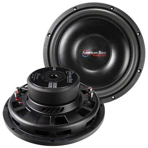 """American Bass 12"""" Shallow Mount Woofer 300W RMS/600W Max - Dual 4 Ohm Voice Coil"""