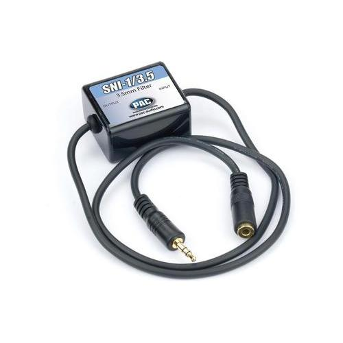 PAC Noise Filter for 3.5mm Aux. between audio source & radio