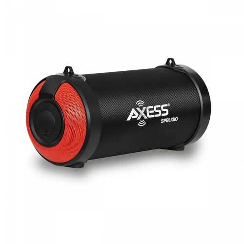 """Axess 3"""" Bluetooth Portable Speaker with LED Lights & USB Input - Red"""