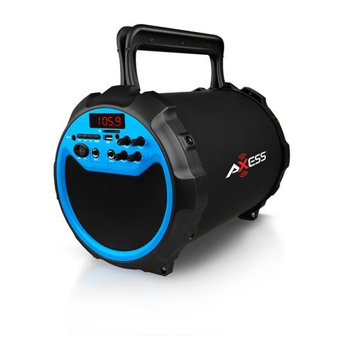 Axess BLUE Portable Bluetooth IndoorOutdoor 2.1 HiFi Loud SpeakerSing Along