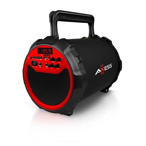 Axess RED Portable Bluetooth IndoorOutdoor 2.1 HiFi Loud SpeakerSing Along