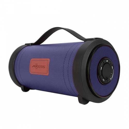 "Axess Portable Bluetooth Speaker - Blue Jean - 4"" SubwooferUSB Aux"