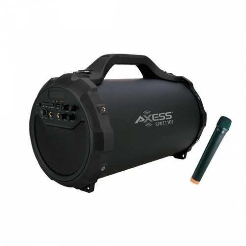 "Axess Portable Bluetooth Speaker - Black - 6"" Subwoofer MICFMSDUSB"