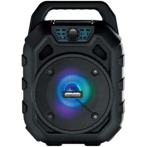 Maxpower Bluetooth Speaker - IPX-6 Water Proof Dust Proof and Floats! FM Radio & Front Dancing LED