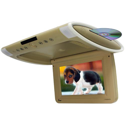 "Tview 10.1"" Wide Screen Flip Down w/Built in Slot Type DVD Player (Tan)"