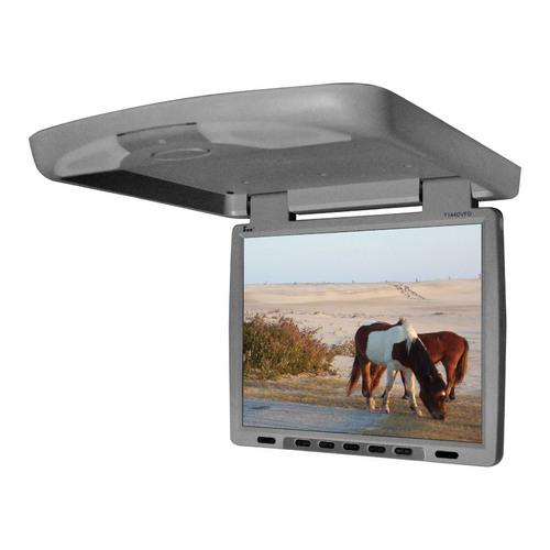 "Tview 14"" Flip Down Monitor with built in DVD IR/FM trans Gray"