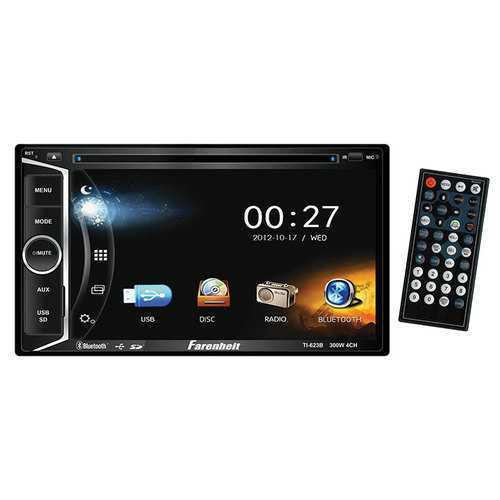 "Farenheit D.Din AM/FM 6.2"" Touchscreen with DVD & BT"