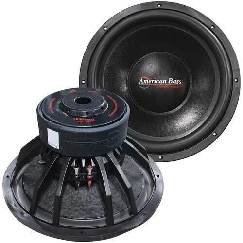 American Bass 15 Woofer 1500W RMS/3000W Max Dual 4 Ohm Voice Coils