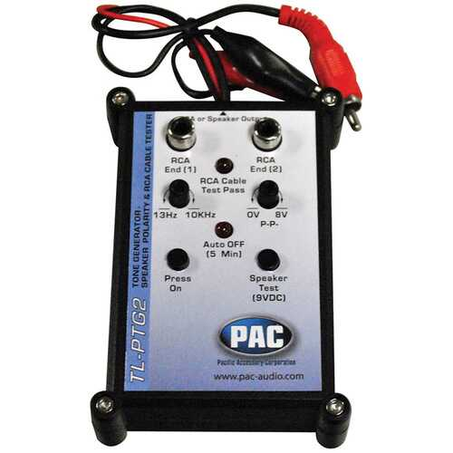 PAC Tone Generator and Speaker Polarity Tester