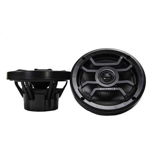 Hifonics 6.5 inch 2- Way Marine and Powersport Speakers 150 Watts Max Black