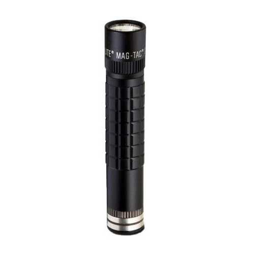 MAGLITE MAGTAC Rechargeable Flashlight w/Plain Bezel-Black