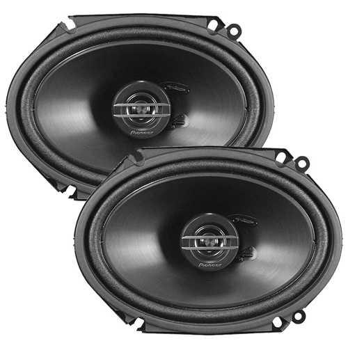 """Pioneer 6x8"""" 2 Way Speakers 250 Watts - Pair - No Grills"""
