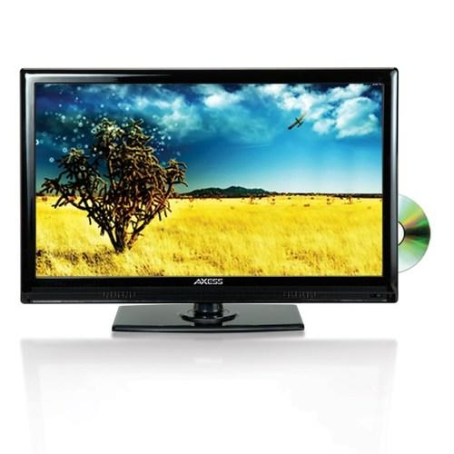 Axess 13.3Inch LED HDTV Features 12V Car Cord Technology Built-In DVD Player