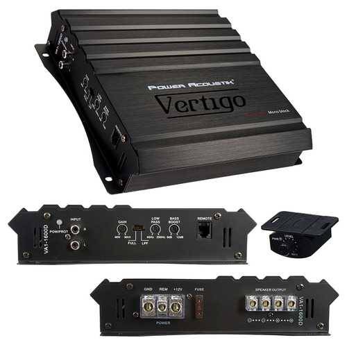 Power Acoustik Vertigo Series Monoblock Amplifier 1600W Max