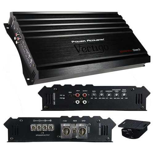 Power Acoustik Vertigo Series Monoblock Amplifier 8000W Max