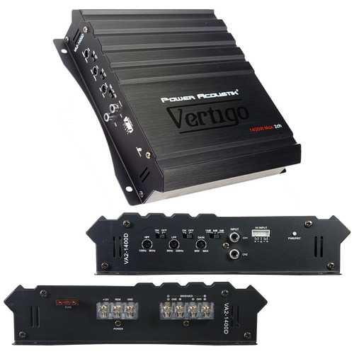 Power Acoustik Vertigo Series 2 Channel Amplifier 1400W Max