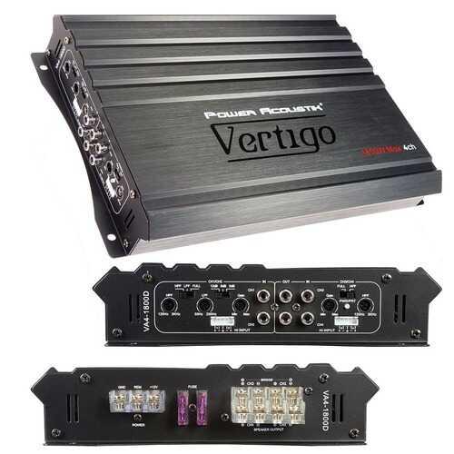 Power Acoustik Vertigo Series 4 Channel Amplifier 1800W Max