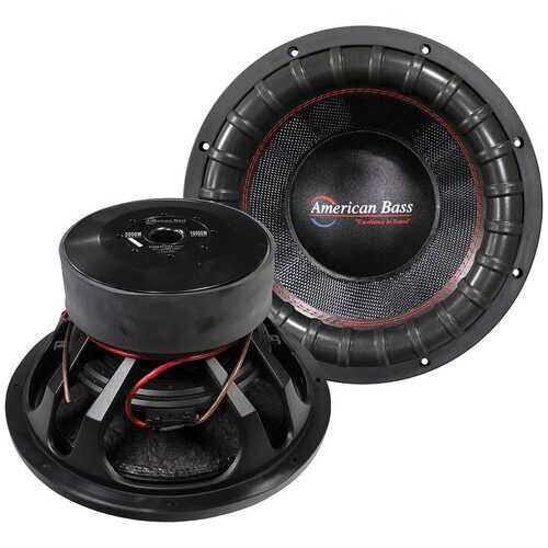 "American Bass VFL 15"" Woofer 5000W RMS / 10000W Max Dual 1 Ohm Voice Coils"