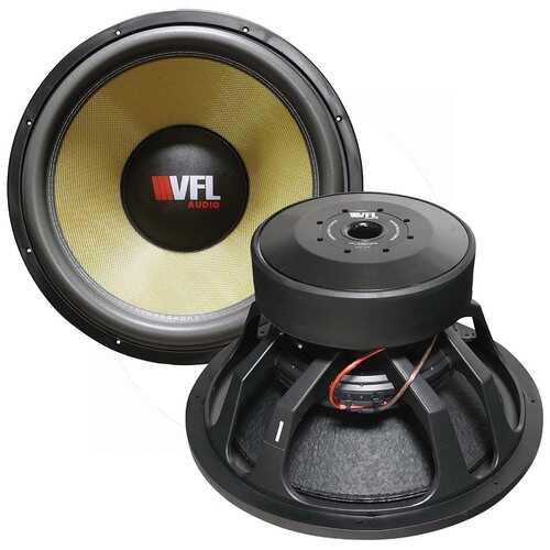 VFL Audio 18´´ Woofer 3000W RMS/6000W Max Dual 2 Ohm Voice Coils