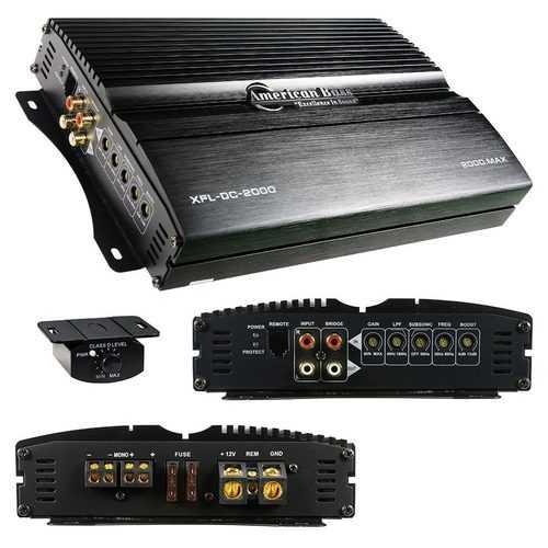 American Bass Micro D Class Mono Block Amplifier 2000 Watts Max