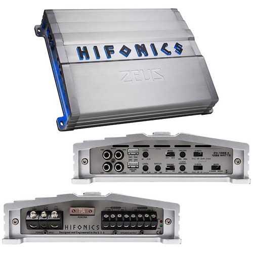 Hifonics Zeus Gamma Series 1200 Watts 4 Channel @ 4 Ohm AB