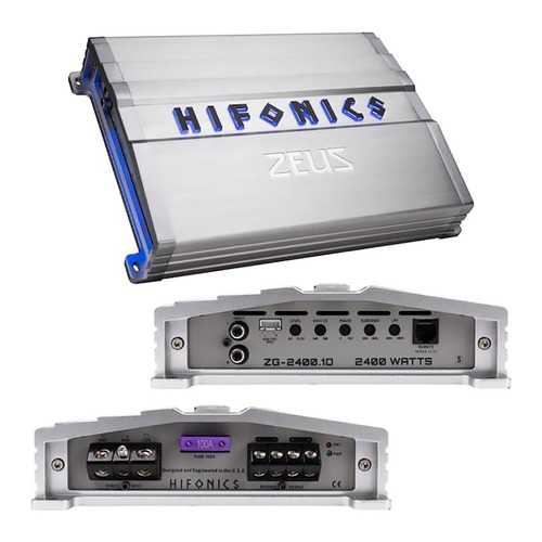 Hifonics Zeus Gamma Series 1 x 2400 Watts @ 1 Ohm Mono
