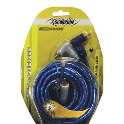 RCA CABLE 1.5' XSCORPION BLUE TRIPLE SHIELDED W/REMOTE WIRE