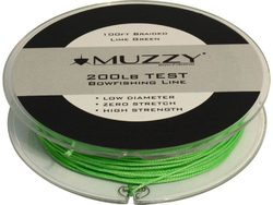 Muzzy Lime Green 200 Pound Test Braided Bowfishing Line 100 ft spool