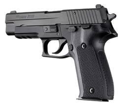 Hogue SIG Sauer P226 DA SA Checkered G10 SOLID BLACK