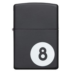 Zippo Windproof Lighter Billiards 8-Ball Black Matte