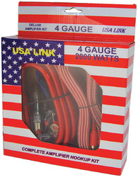 *USA LINK* 4G. AMP WIRING KIT W/RCA CABLES; QPOWER
