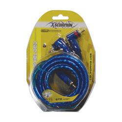 RCA CABLE 6' XSCORPION BLUE TRIPLE SHIELDED W/REMOTE WIRE