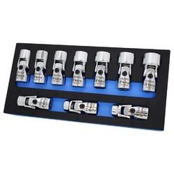 Astro  Tool 74310 6 Point Metric 3/8In Drive Flex Socket Set