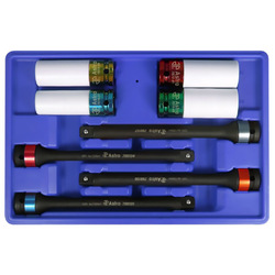 Astro 78818 8 Piece Torque Limiting Extension and Protective Impact Socket Combo Set