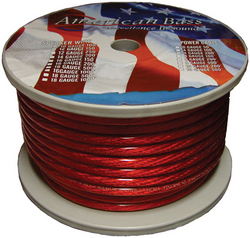 American Bass *AB665RED* Power Wire 8 Gauge 100 Foot - Red