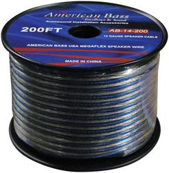 American Bass 14 Gauge 200Ft Megaflex Speaker Wire