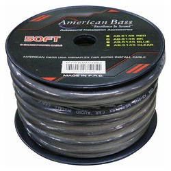 American Bass Power Wire 1/0 Gauge 50 Foot - Black