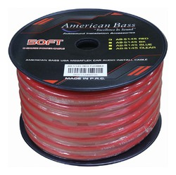 American Bass Power Wire 1/0 Gauge 50 Foot - Red