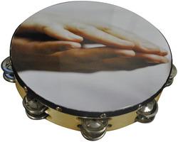 """Nippon 10"""" Praying Hands Tambourine"""