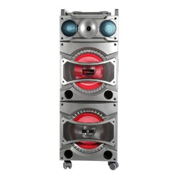 """Blackmore Portable Amplified 4Way Audio Entertainment System with Dual 10"""" Subwoofers Bluetooth C"""