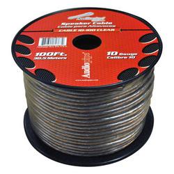Audiopipe 10 Gauge Speaker Cable 100ft Clear