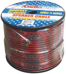 SPEAKER CABLE 16 GA. 1000' AUDIOPIPE; RED + BLACK