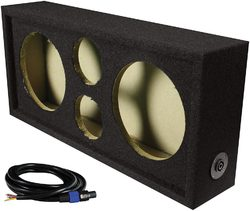 """Qpower Full Range Empty Box Holds 2 - 8"""" & 2 - Super Tweeter w/ Speakon connection with cable"""