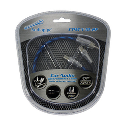 Audiopipe Platinum Plated Interconnect Cable 1 Male to 2 Female