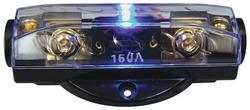 FUSEHOLDER ANL AUDIOPIPE BLUE LED; PLATINUM