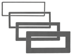 TRIM RING AMERICAN INT'L FOR DIN RADIOS; 4 PIECES