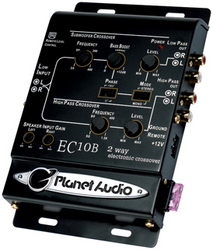Planet 2-Way electronic crossover with remote woofer level control