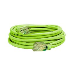 Flexzilla Pro Extension Cord 14/3 AWG SJTW 25ft Outdoor Lighted Plug